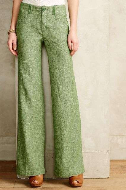 Pantaloni color Greenery