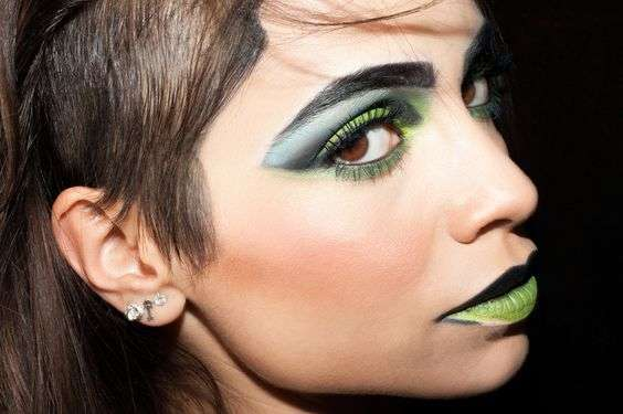 Makeup Greenery e sfumature di nero