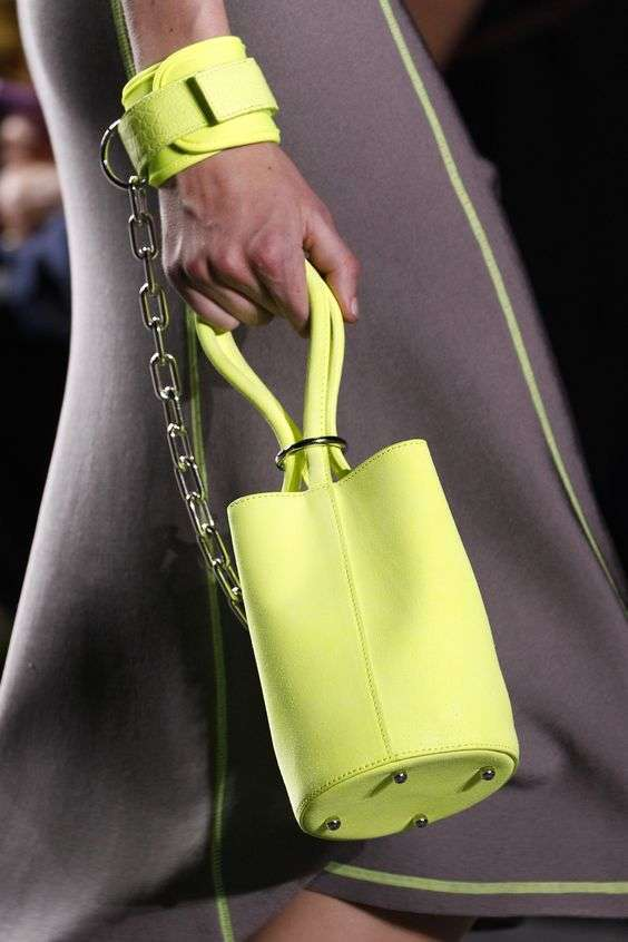 Mini bag giallo limone