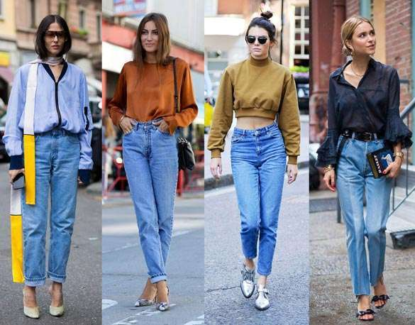 Look con Mom Jeans