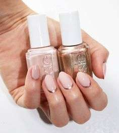Moon manicure color rame e rosa