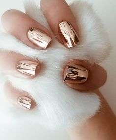 Nail art color rame con finish metallizzato
