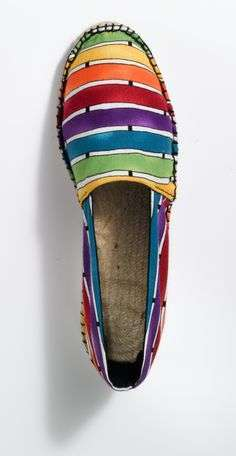 Espadrillas a righe colorate