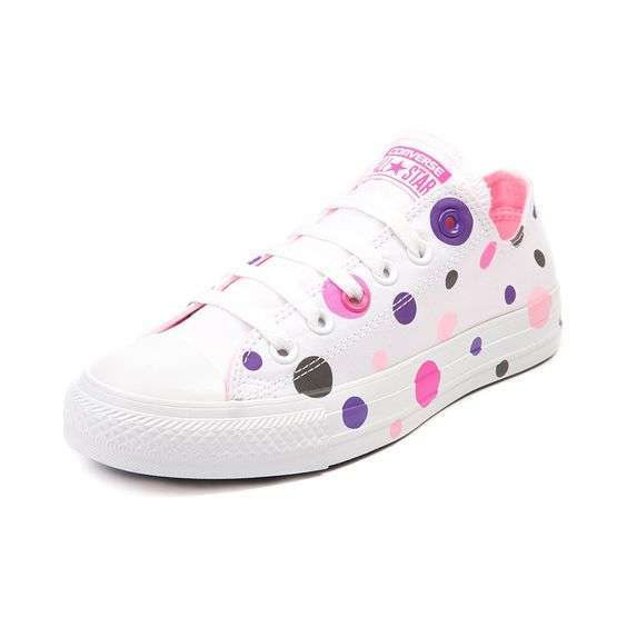 Sneakers a pois colorati