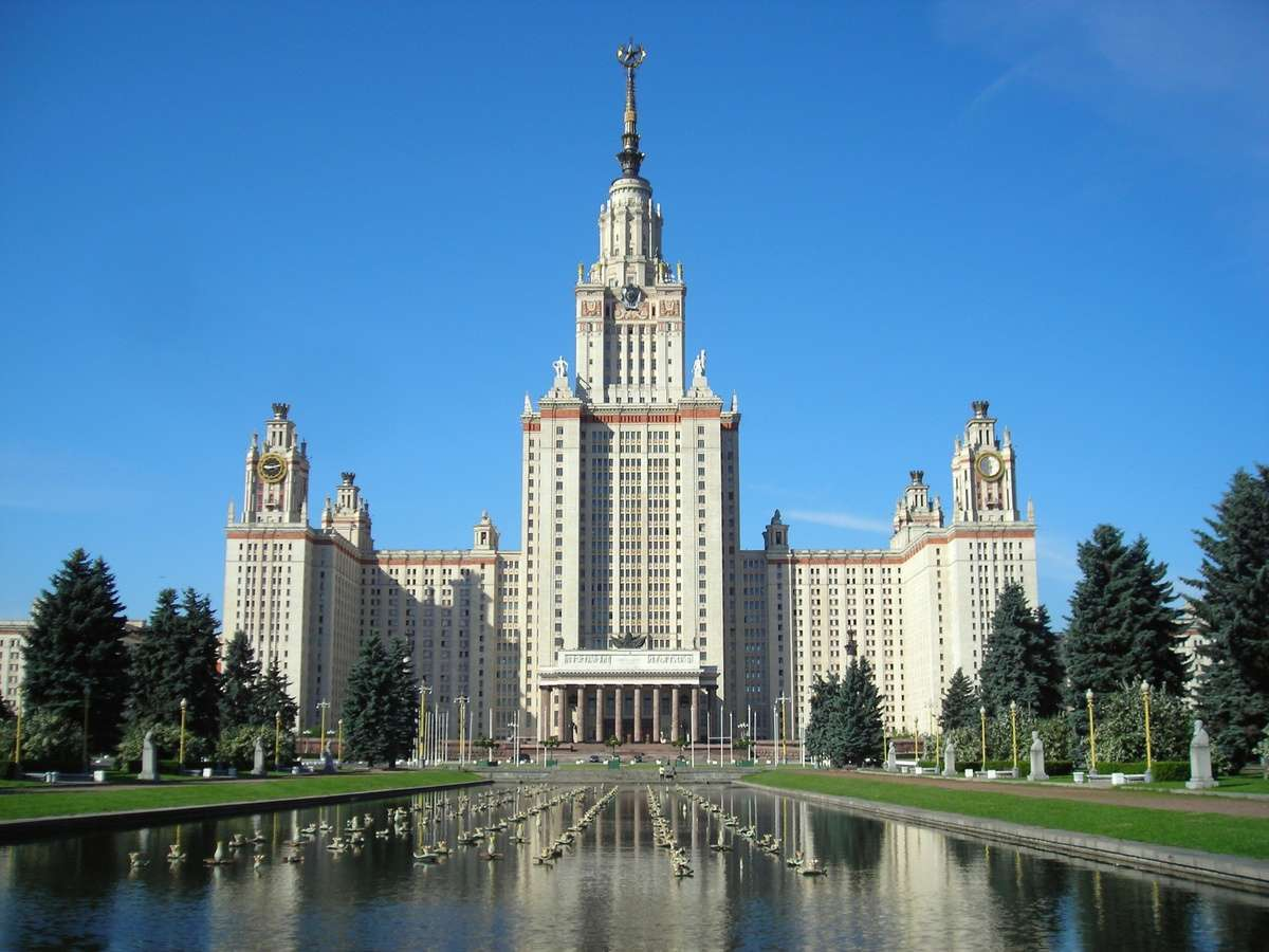 Moscow State Building in Russia