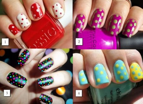 nail art tutorial: pois manicure