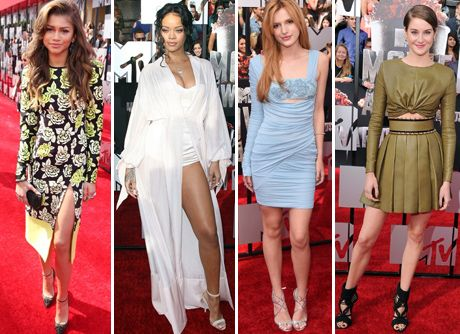 Mtv Movie Awards 2014 vestiti red carpet zendaya bella thorne rihanna
