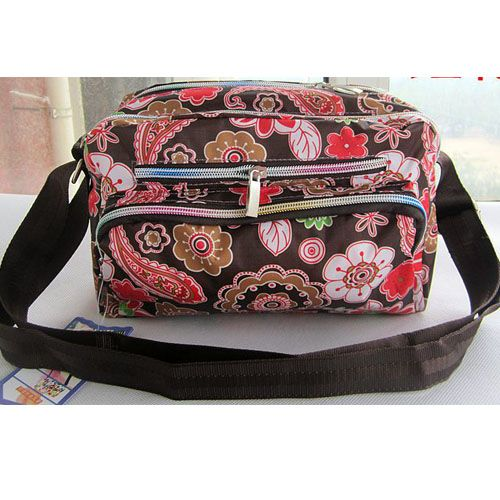 Drop Shipping Red Flower Printing Oxford WaterProof Light Sport Messenger Bag Impresso Women Crossbody Bag Shoulder