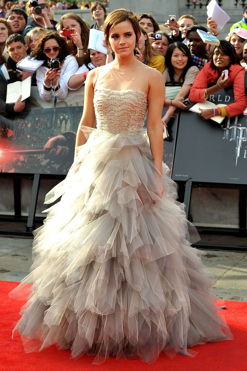 British actress Emma Watson arrives at the world premiere of Harry Po