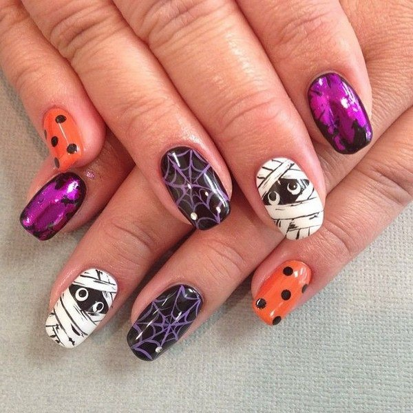 Halloween acrylic nails ideas halloween nail art acrylic nails halloween designs