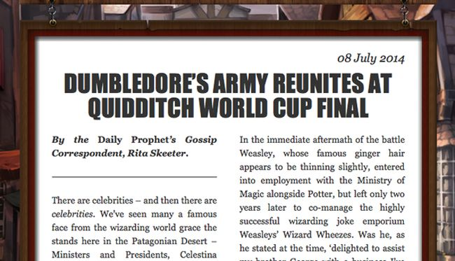 pottermore rowling nuovo racconto harry potter