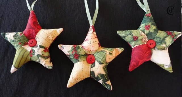 Stelle patchwork un lavoretto semplice per decorare la for Decorare stanza natale